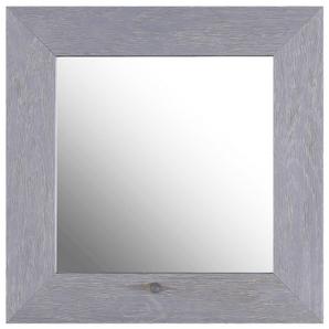 Miroir mural en bois gris 17 x 17