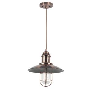 Luminaire suspendu style cage fini cuivre