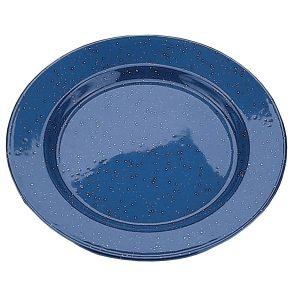 Assiette de camping en mélamine, bleu, 10 po