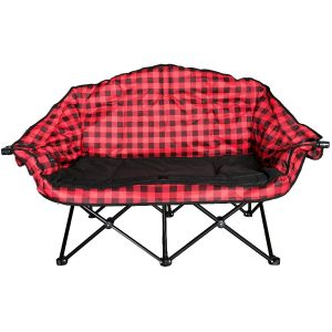 Chaise de camping Bear Buddy, rouge et noir