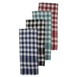 Paquet de 4 serviettes de cuisine, couleurs variées