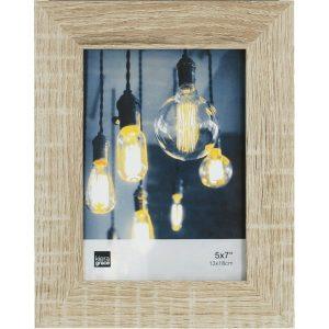 Cadre-photo Loft de 5 po x 7 po en bois flotté, gris
