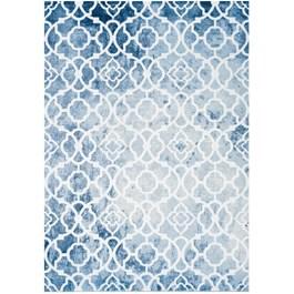 Carpette Trellis blanc platine et bleu élégant, 8 pi x 11 pi