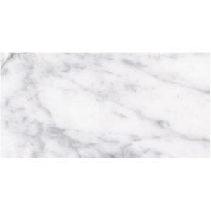 Carreaux de revêtement de sol en porcelaine plat Carrara romain, 12 x 24 po, 16 pieds carrés