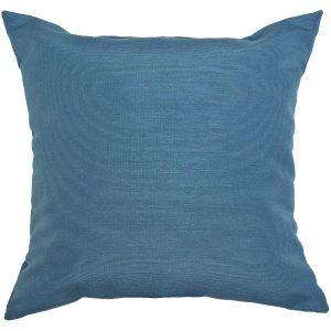 Coussin décoratif carré de 16 po, bleu marine uni