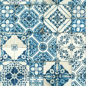 Papier-peint peler-coller à motif méditerranéen, 20,5 po x 16,5 pi