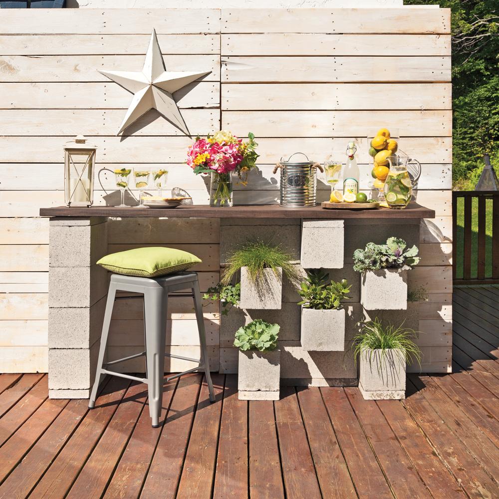 Comment Fabriquer Une Terrasse En Beton fabriquer un bar extérieur : un projet béton! - univers de